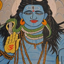 Big blue god (Shiva)