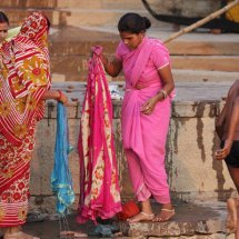 Washing clothes from the ghats