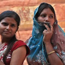 Agra Fort (two women)