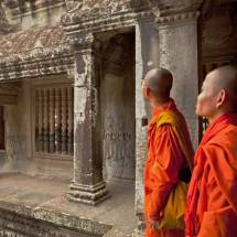 Angkor Wat (two monks touring temple)