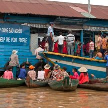 Tonle Sap floating village (charity rice)