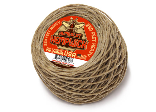 Humboldt Hemp Wick 250 Feet Heavy Flame