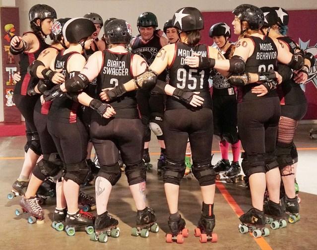 redwood rollers team huddle june 2018 by matt filar 2