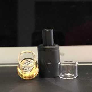 Black Molecule, Flattened coil, Quartz cup