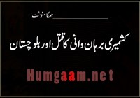 کشمیری برہان وانی کا قتل اور بلوچستان