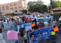 کراچی میں بی ایچ آر کا احتجاجی ریلی نکلی