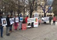 کینیڈا میں بی ایس او آزاد و بی این ایم کا مشترکہ احتجاجی مظاہرہ