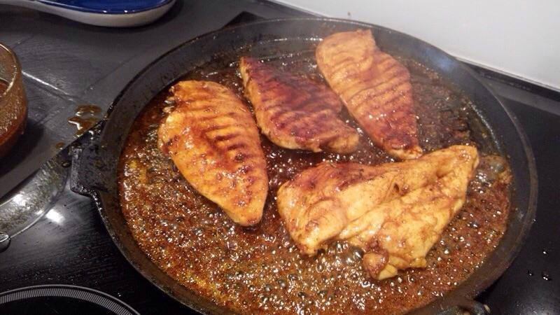 Poulet au grill sauce miel et citron