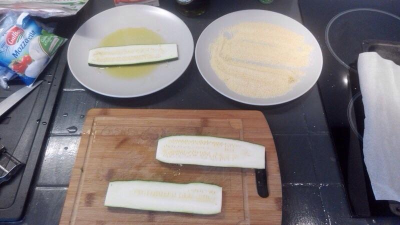 Enroulades de courgettes au jambon