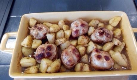 Paupiettes de porc pomme de terre sautées