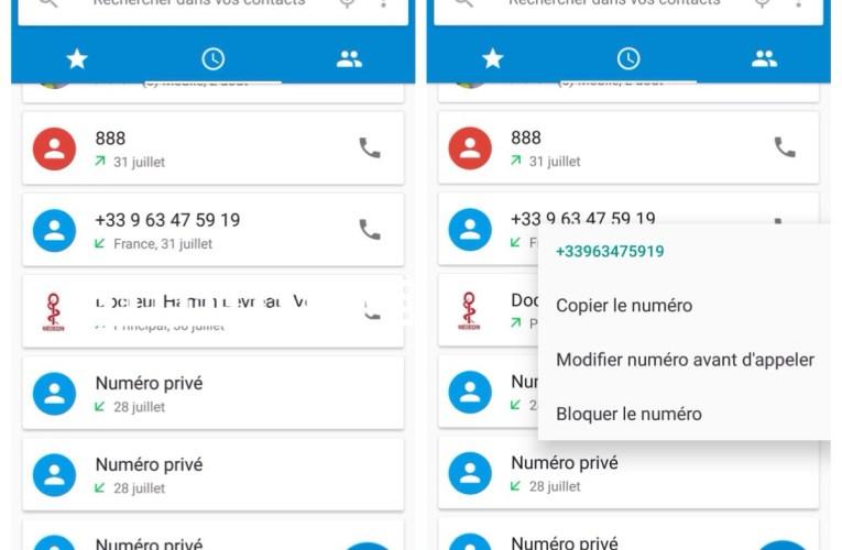 Bloquer un numéro sur Android