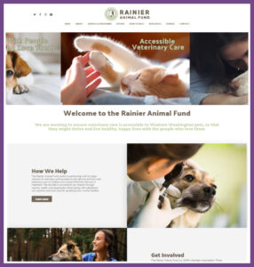 Rainier Animal Fund, a Website Designed by Hummingbird Marketing Services