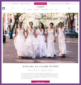 Cicada Bridal, a Website Designed by Hummingbird Marketing Services