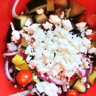 Greek Salad recipe featured