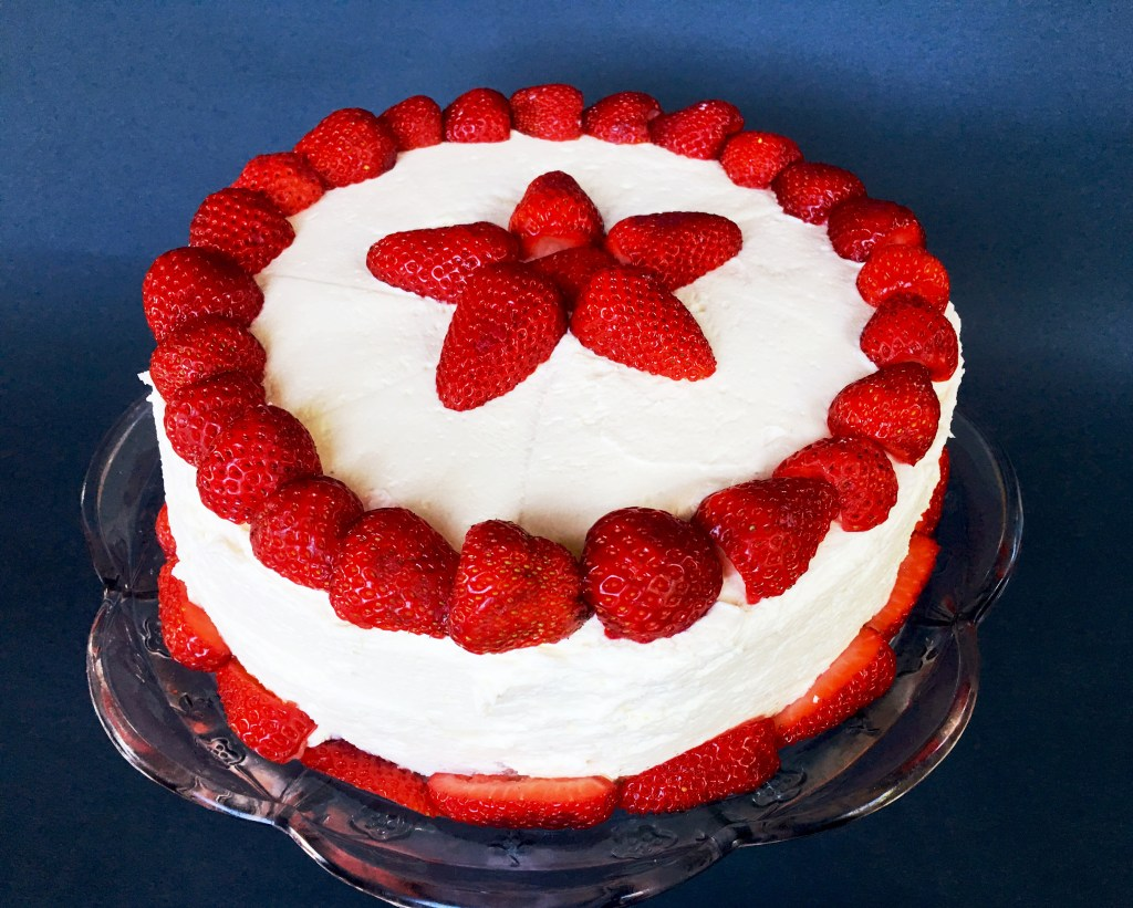 Vanilla Strawberry Cake 3