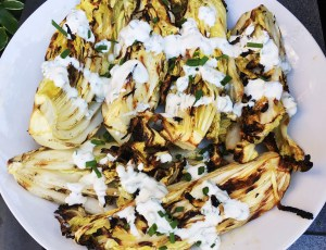 Grilled Napa Cabbage with Buttermilk Dressing