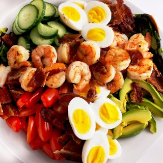 Shrimp Cobb Salad and Cilantro Lime Dressing