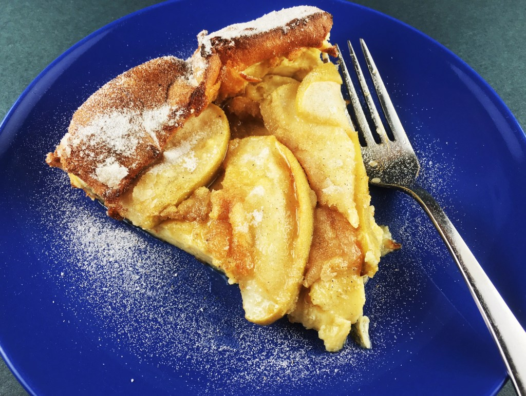 Apple-Cardamom Dutch Baby with Brown Butter