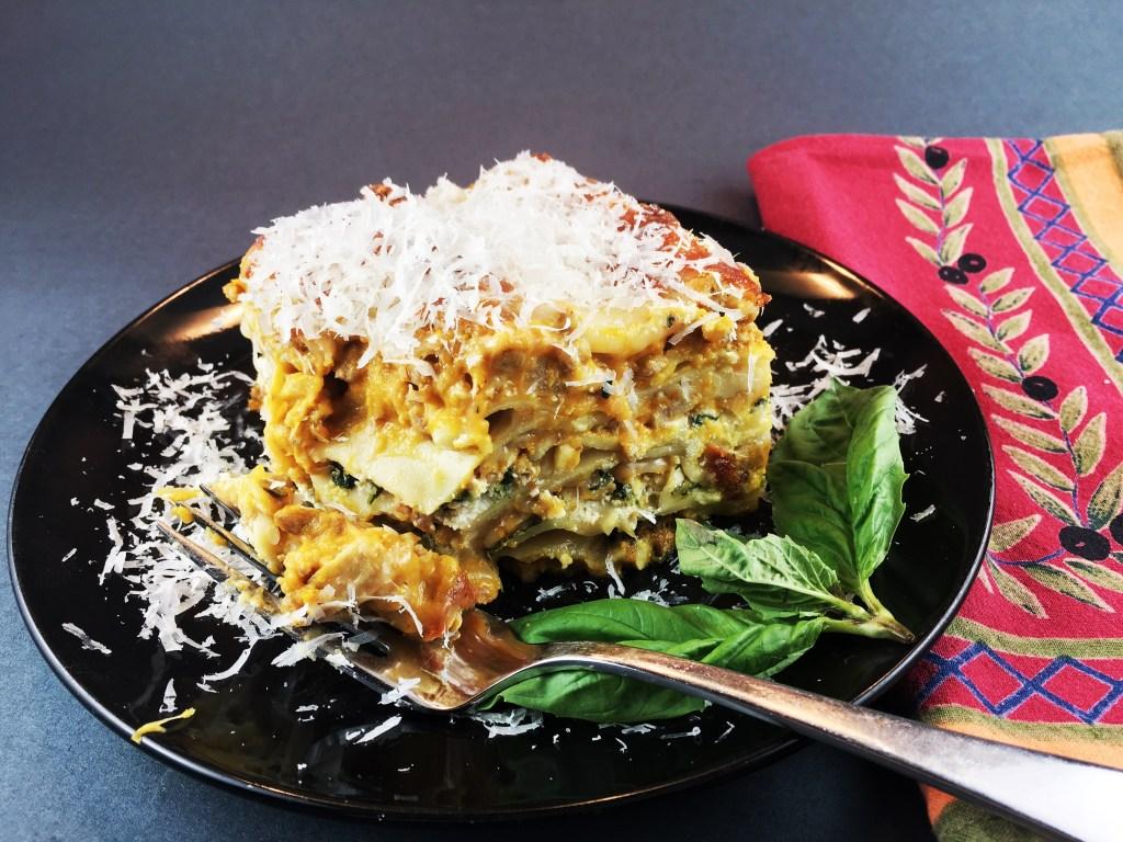 Pumpkin and Sausage Lasagna