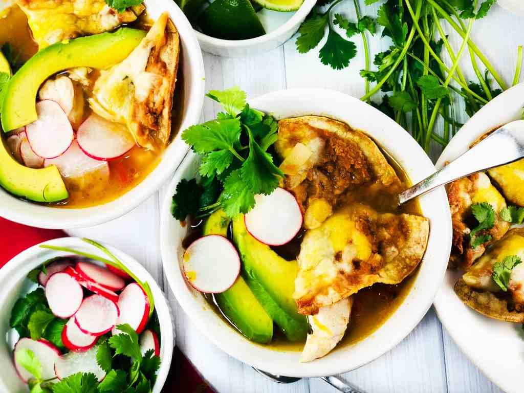 Chicken Tortilla Soup with Nachos