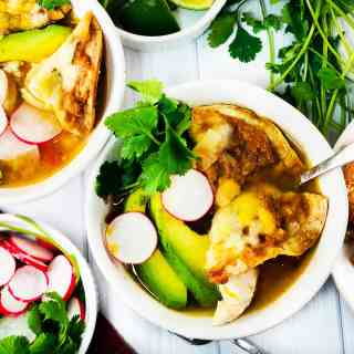 Chicken Tortilla Soup with Nachos