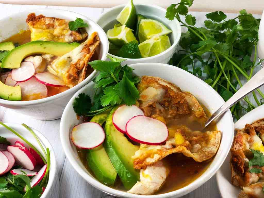 Easy Chicken Tortilla Soup with Nachos