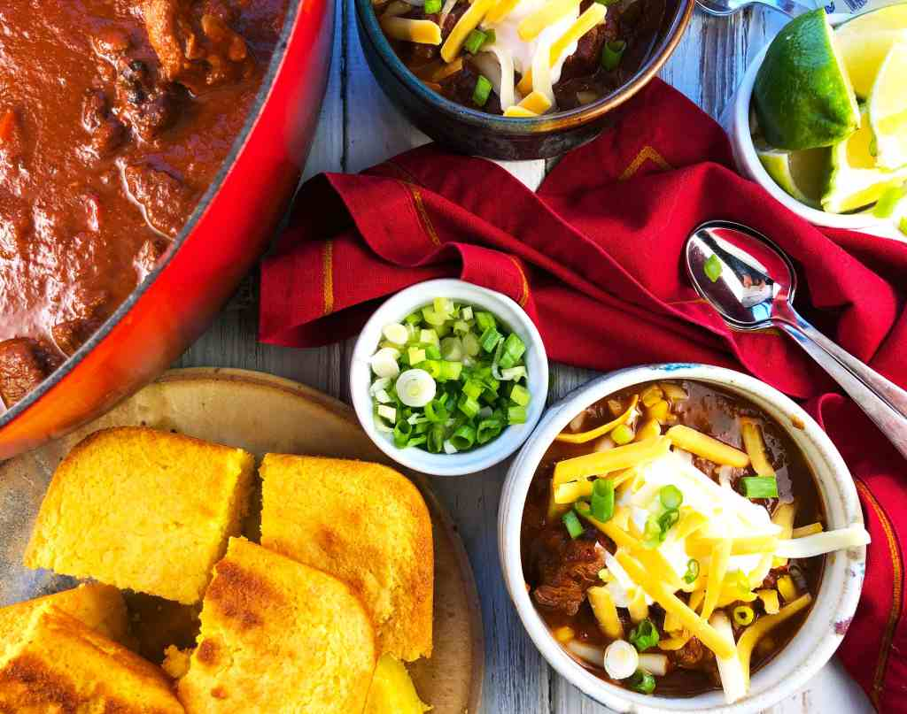 Spicy Ancho Beef Chili for a Crowd