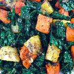 Sumac Spiced Sweet Potatoes Kale