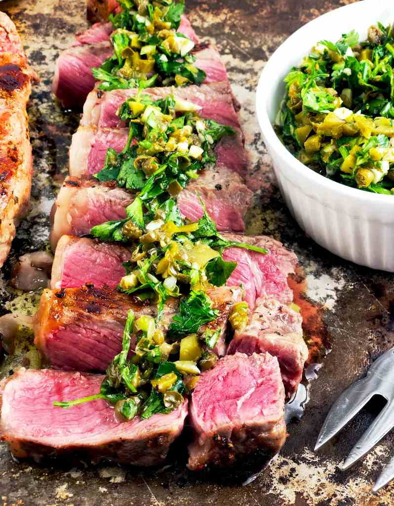 NY Strip with Persillade Sauce