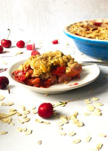 Slice of Summer Fruit Crisp