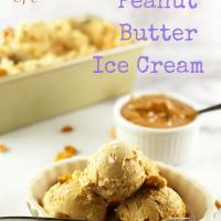 No Churn Salty Peanut Butter Ice Cream
