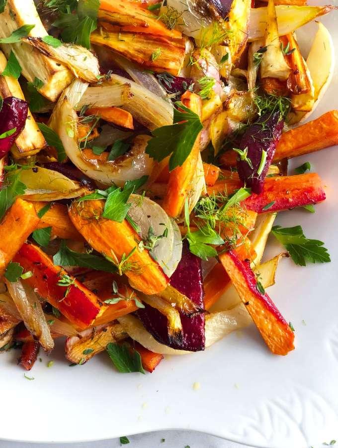Sheet Pan Roasted Root Vegetables