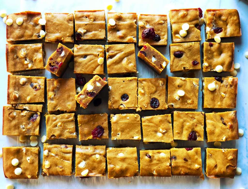 Pumpkin Blondie Bars Recipe