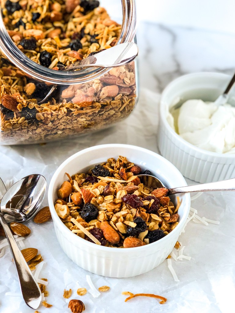 Cherry Granola with almonds and cashews