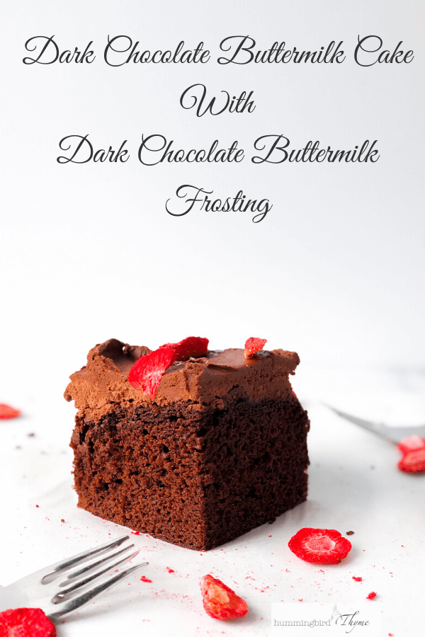 Chocolate Cake with Chocolate Buttermilk Frosting
