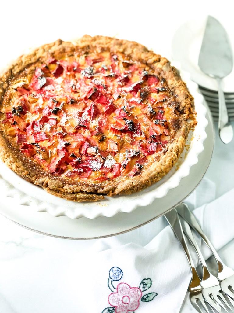 Rhubarb Vanilla Custard Pie Recipe