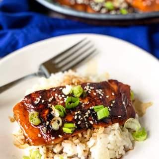 Mirin-glazed salmon