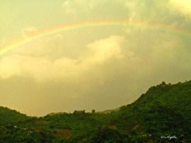 A sunset rainbow