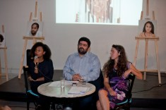 Opening event at AltCity on September 24, 2014. Welcoming words by Nisreen Kaj, Wadih Al Asmar and Marta Bogdanska. Beirut. Photo by Mourad Ayyash from RightsCast