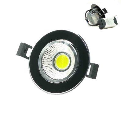ΣΠΟΤ ΧΩΝΕΥΤΟ LED ΜΑΥΡΟ 5W 8X4CM 20036-36