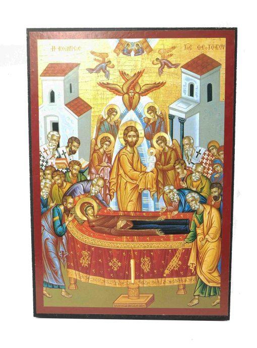 ΕΙΚΟΝΑ Η ΚΟΙΜΗΣΗ ΤΗΣ ΘΕΟΤΟΚΟΥ 20Χ14CM  KTH-125-703