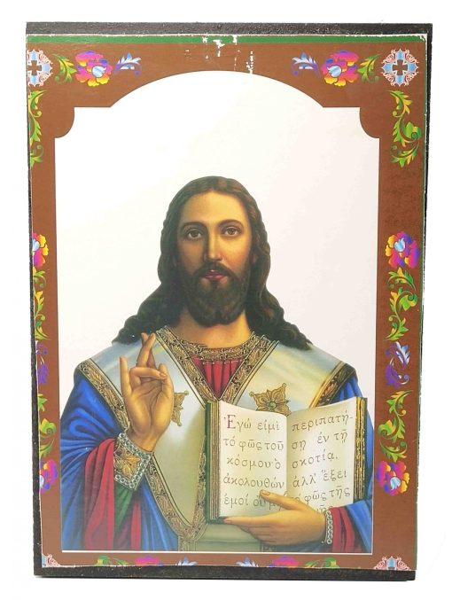 ΕΙΚΟΝΑ ΙΗΣΟΥΣ ΧΡΙΣΤΟΣ ΠΟΛΥΧΡΩΜΗ 20Χ14CM  XR-165-557