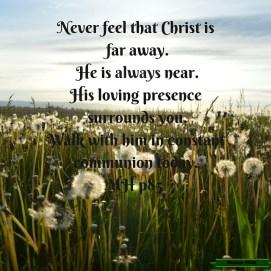 Never feel that Christ