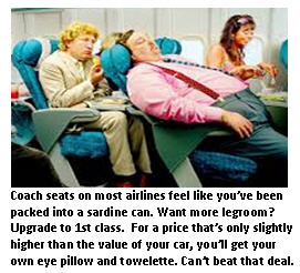 Airline travel - coach seats