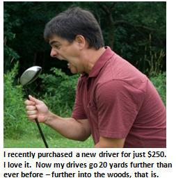 golf - angry golfer