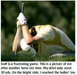 golf - frustrated golfer