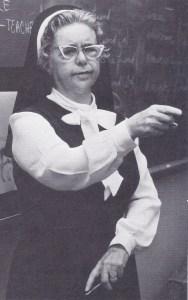 Sister Mary Barbara in 1973
