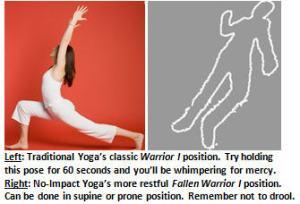 No Impact Yoga - Warrior 1