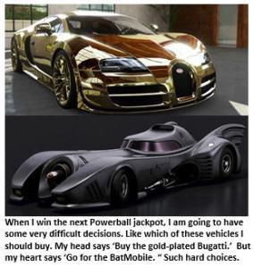 Powerball jackpot - Cars