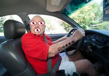 Flatulent related attacks against Uber drivers have been up in recent months. Photo: Anti-Flatulence League.